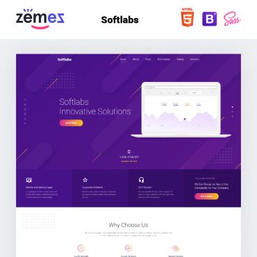 Template Software Landing Page #77619
