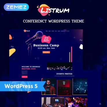 Template 77686 : Listrum - Conference One Page Animated