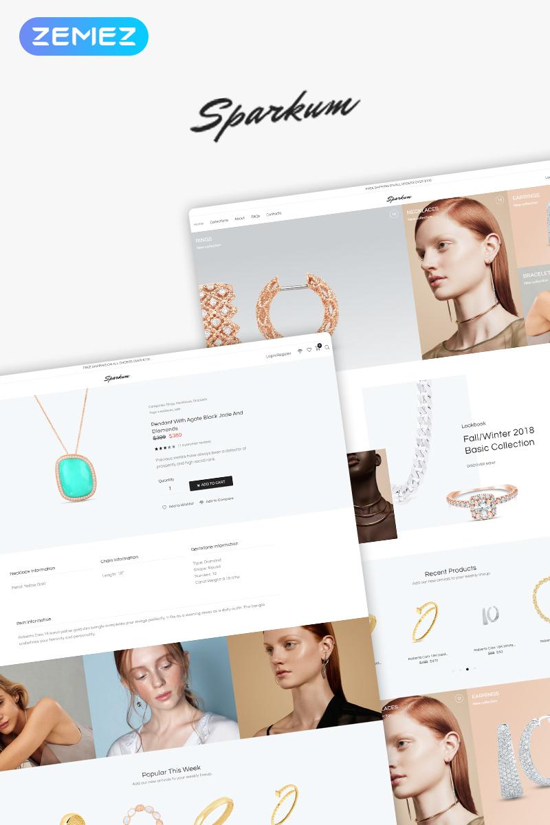 Sparkum - Jewelry ECommerce Classic Elementor WooCommerce Theme