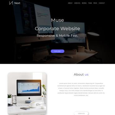 Template Web Design Muse #78121