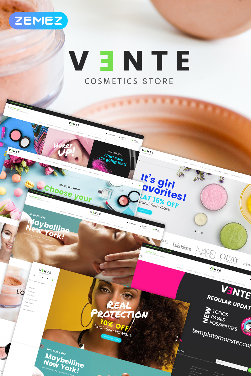 Vente - Cosmetics Store Clean Bootstrap Ecommerce