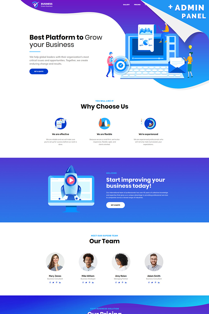 Business - Corporate Landing Page Template