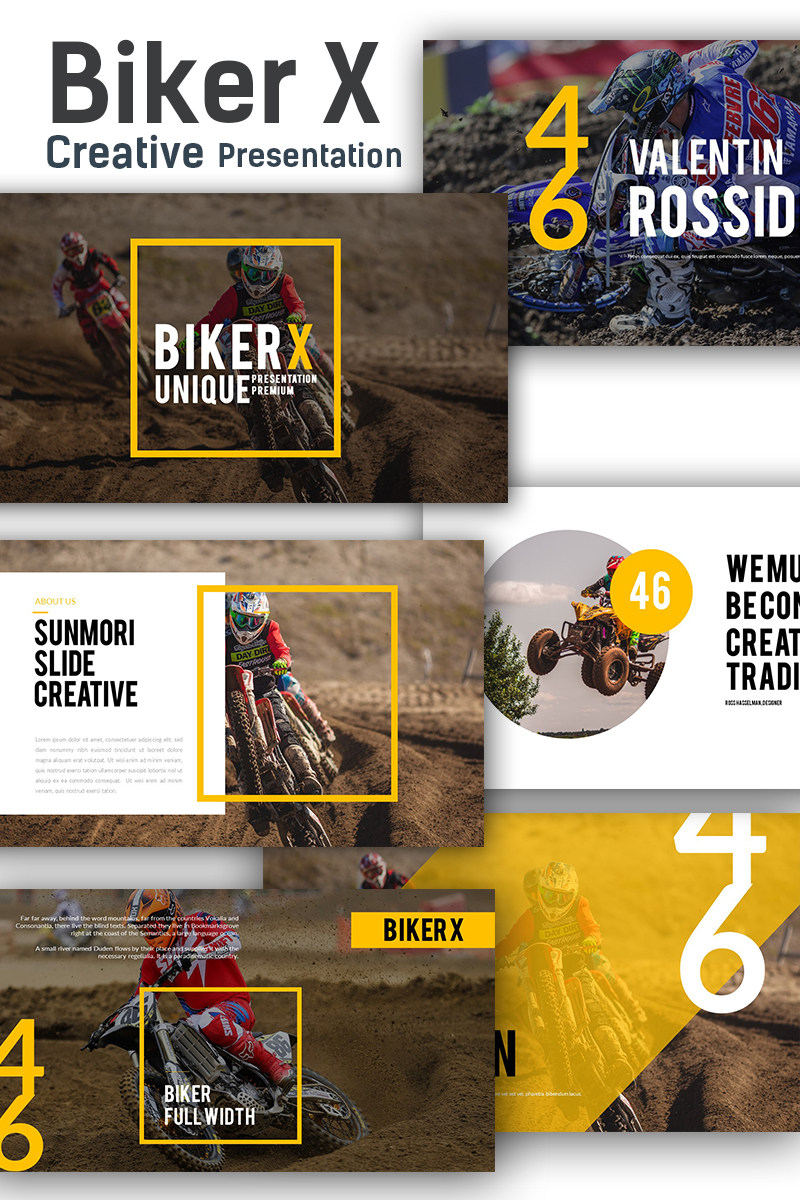 Biker X PowerPoint Template