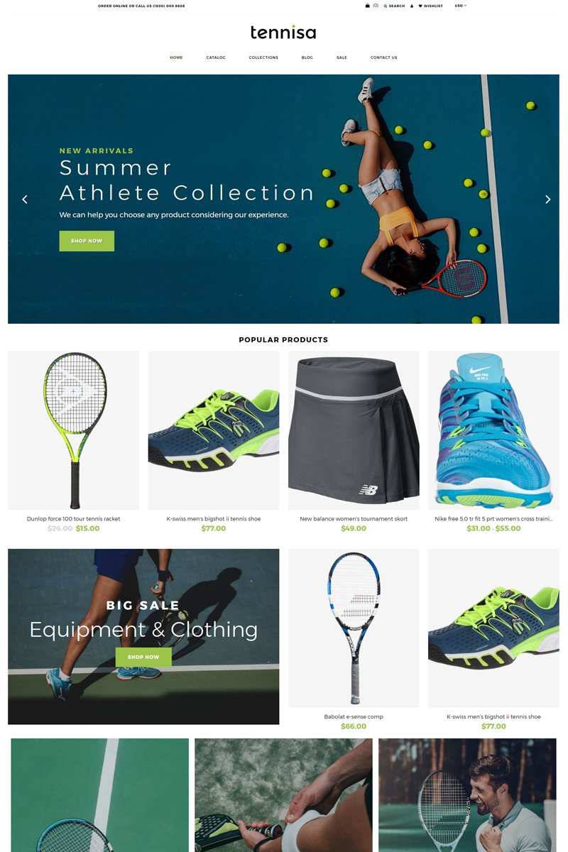 Tennisa - Tennis Store Clean Shopify Theme