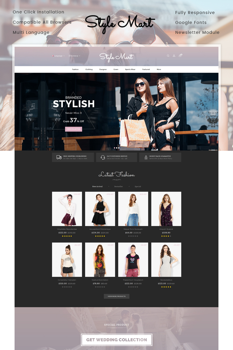 StyleMart - Fashion Store OpenCart Template