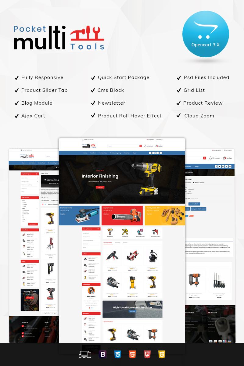 Pocket Multi-tools Store OpenCart Template
