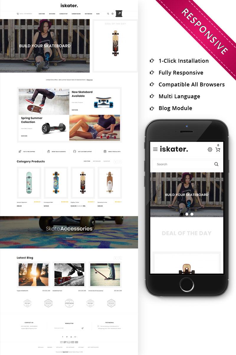 Iskater - The Sport Hub Responsive OpenCart Template
