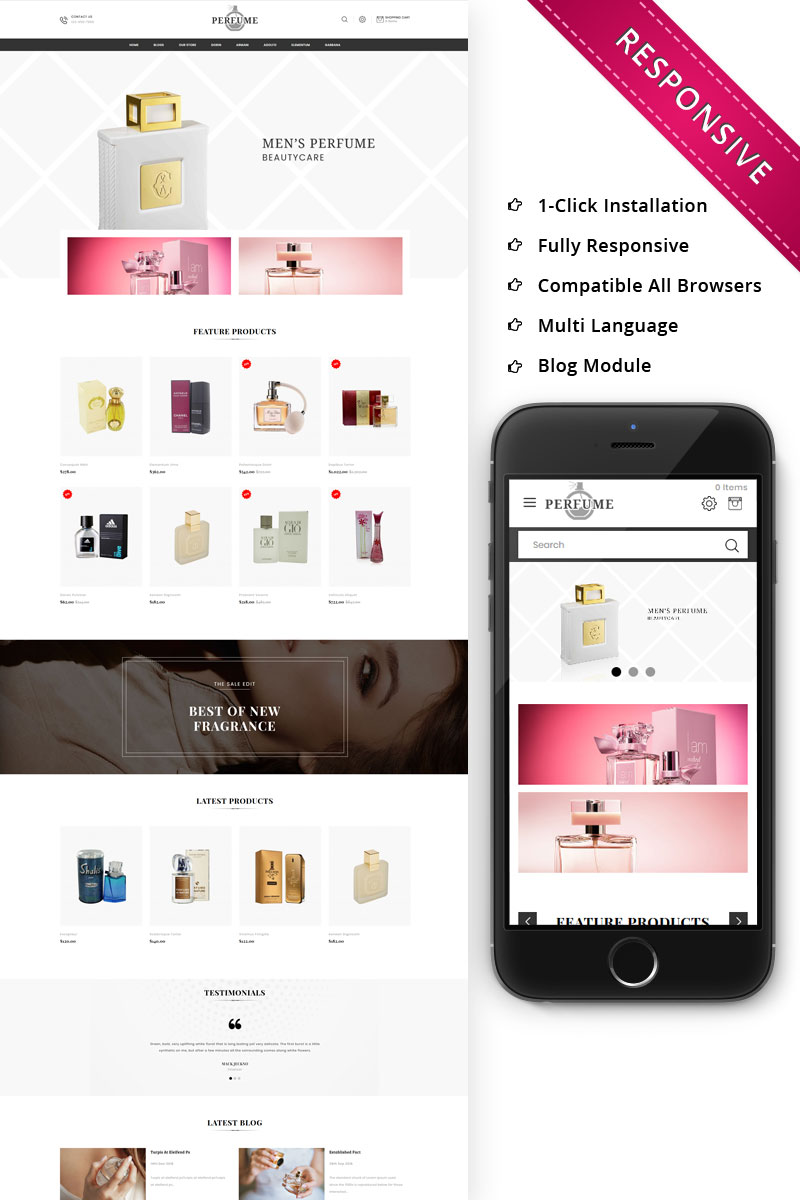 Perfume - The Cosmetic Store Responsive OpenCart Template