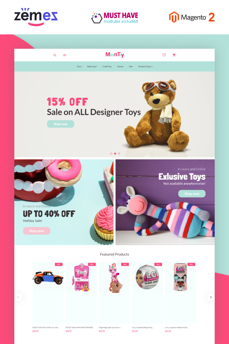 MoonToy - Toys Store Template Magento Theme