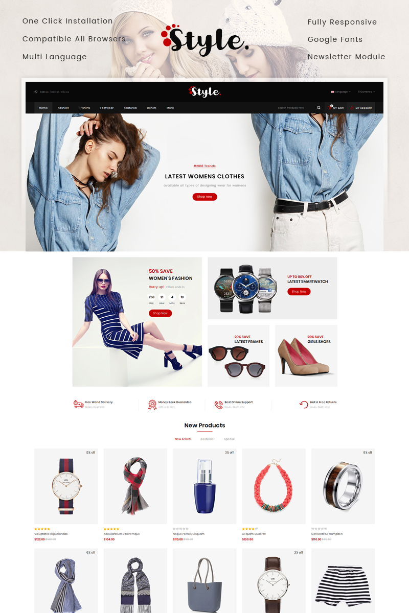 Style Fashion Store OpenCart Template