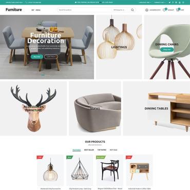 Template Amenajări interioare și mobilă WooCommerce #78913