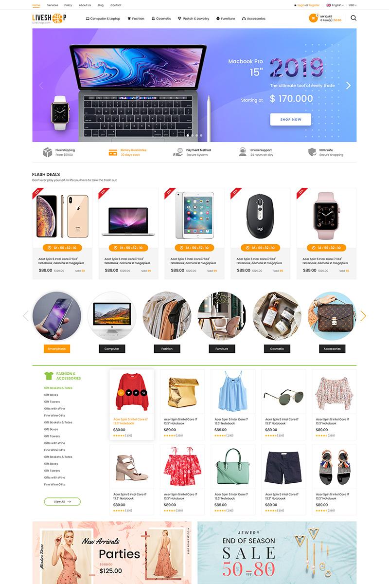 LiveShop Multipurpose OpenCart Template
