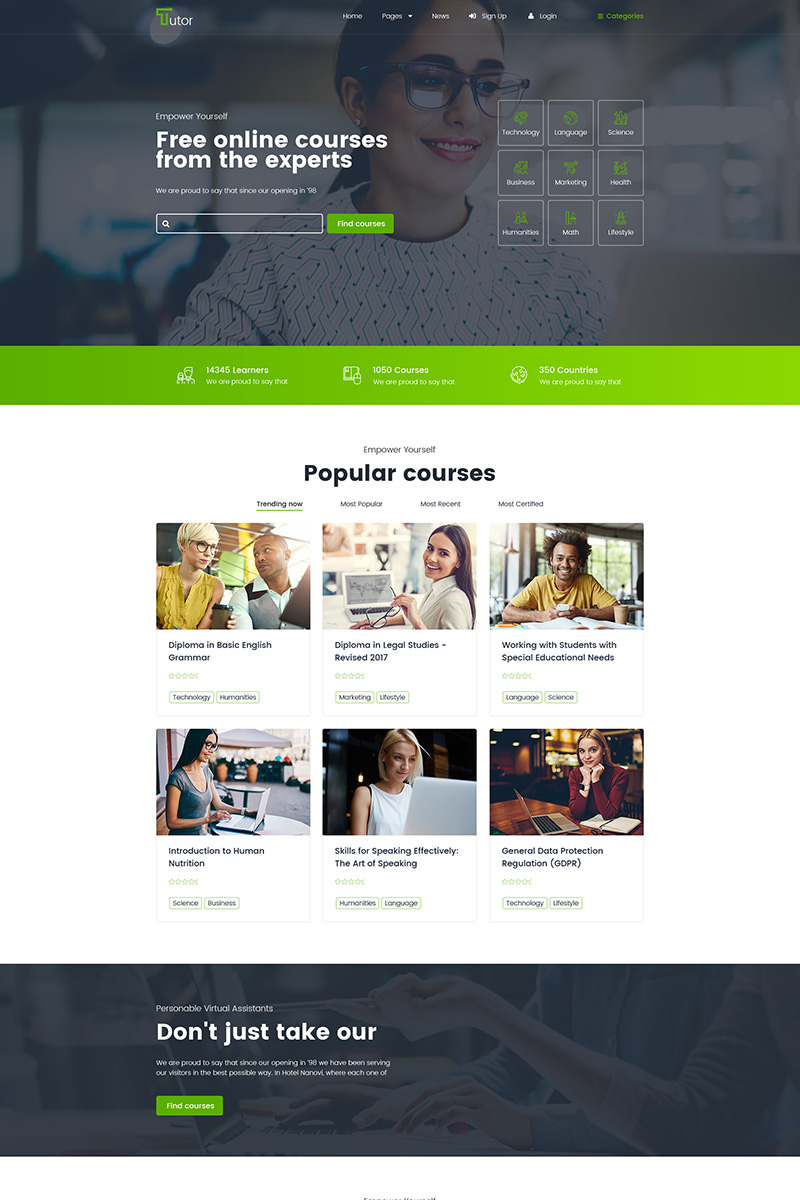 Tutor - Online Education And Teaching WordPress Theme
