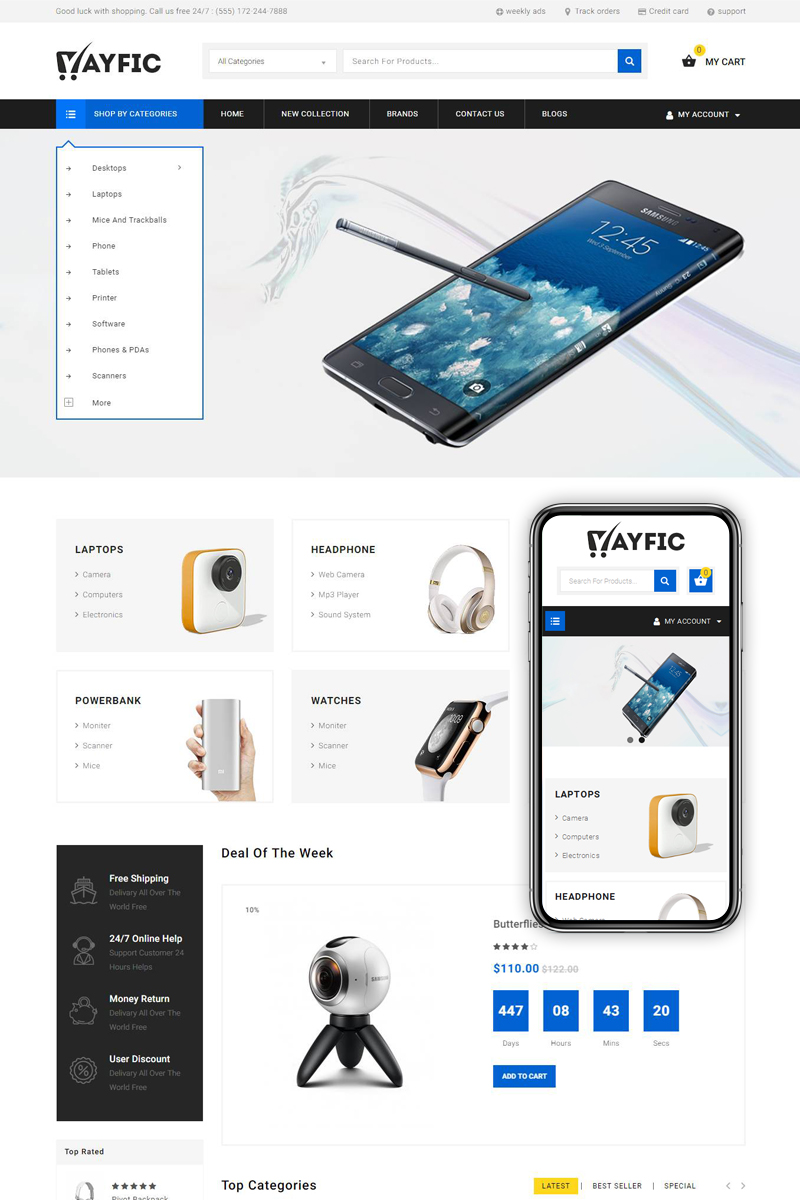 Ayfic - Multi Purpose Store OpenCart Template