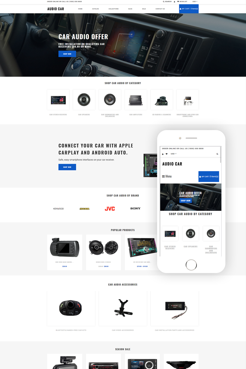 Audio Car - Car Audio Multipage Modern Shopify Theme