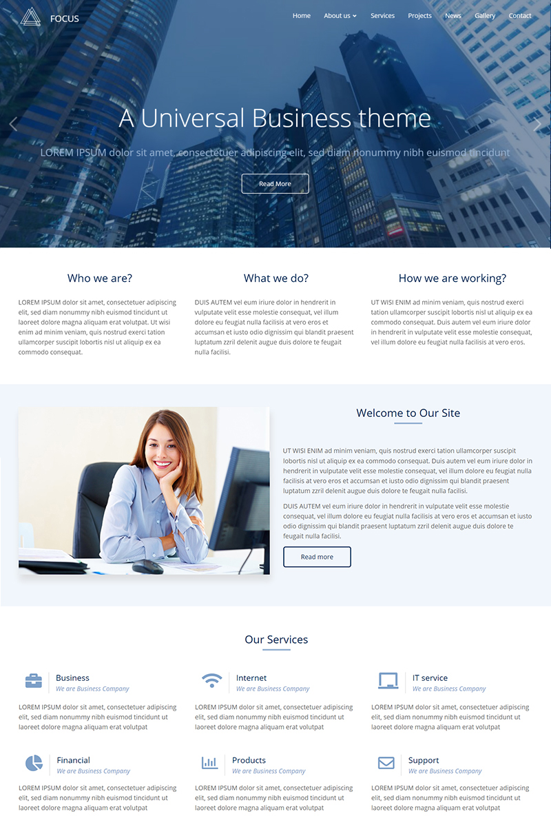 Focus Responsive Multi-Purpose Drupal Template