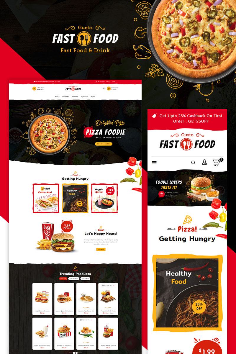Fast Food PrestaShop Theme