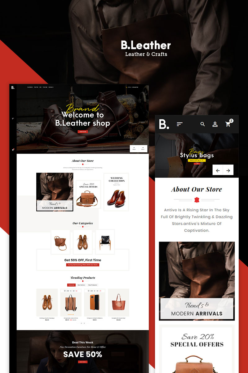 Be Smith - Leather & Crafts PrestaShop Theme