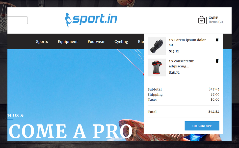 SportIn - Sports Accessories Store PrestaShop Theme