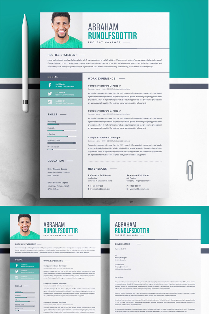 abraham resume template
