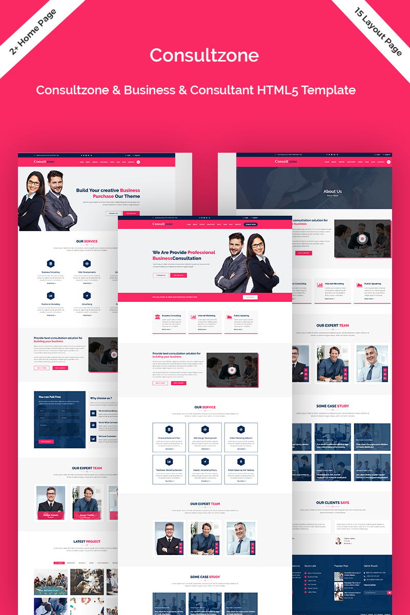 Consultzone - Consultancy & Business Landing Page Template