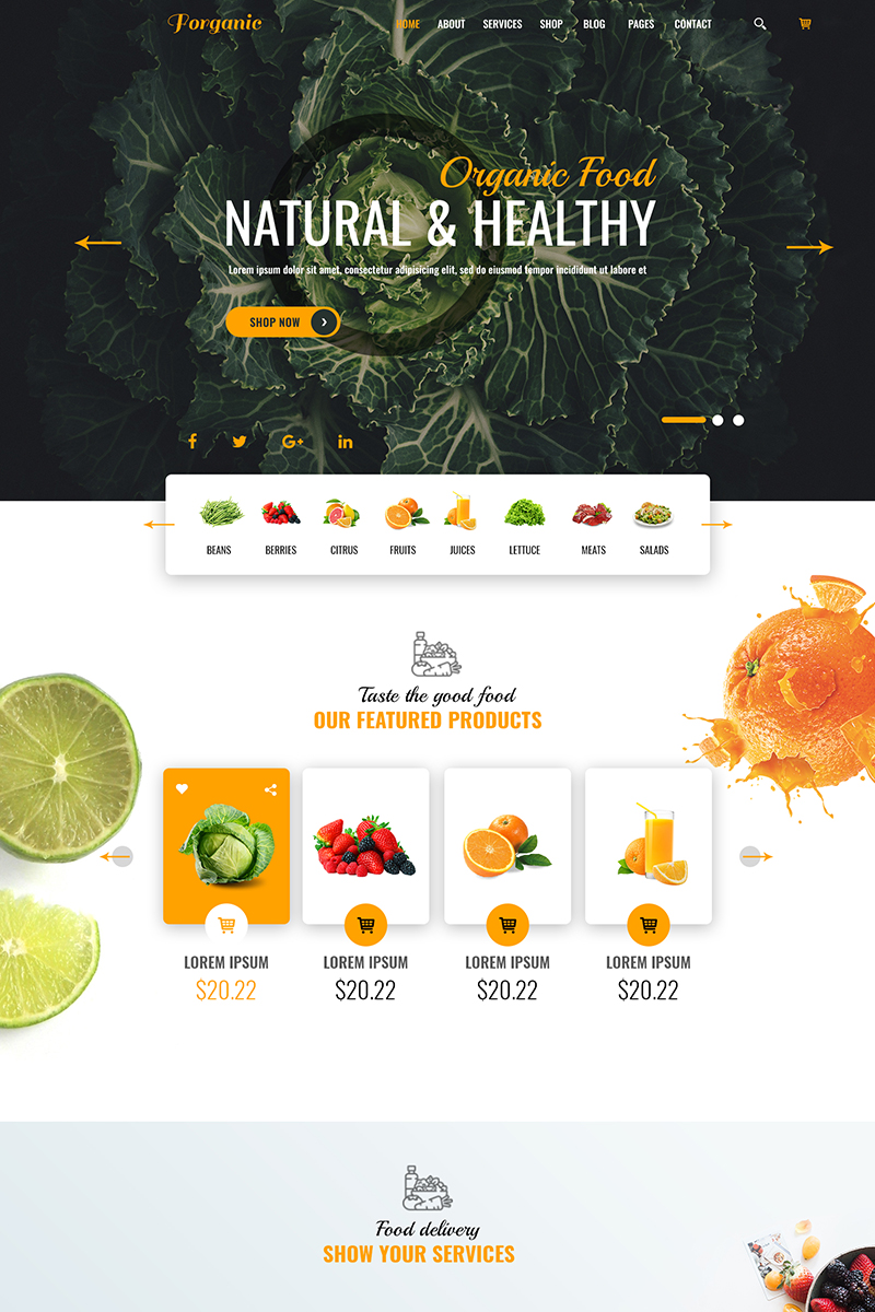 forganic psd template