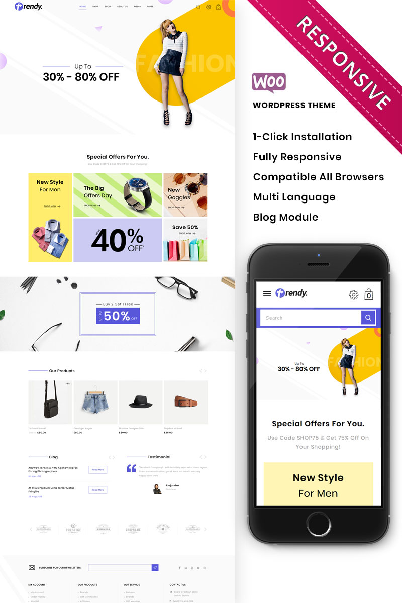 Trendy - The Fashion Store Responsive WooCommerce Theme
