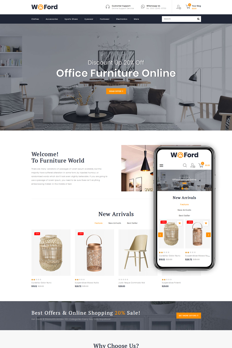WoFord - Furniture & Decor Store PrestaShop Theme