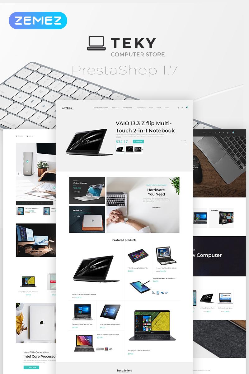 Teky - Computers & Internet Store Clean Bootstrap Ecommerce PrestaShop Theme