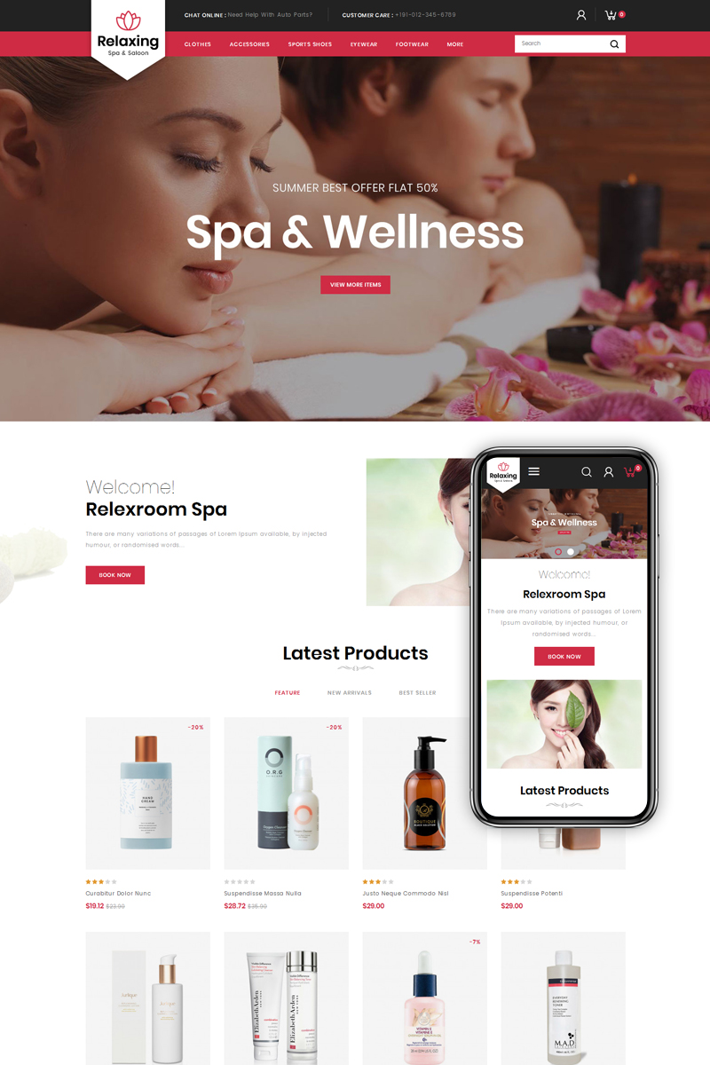 Relaxing - Spa & Salon PrestaShop Theme