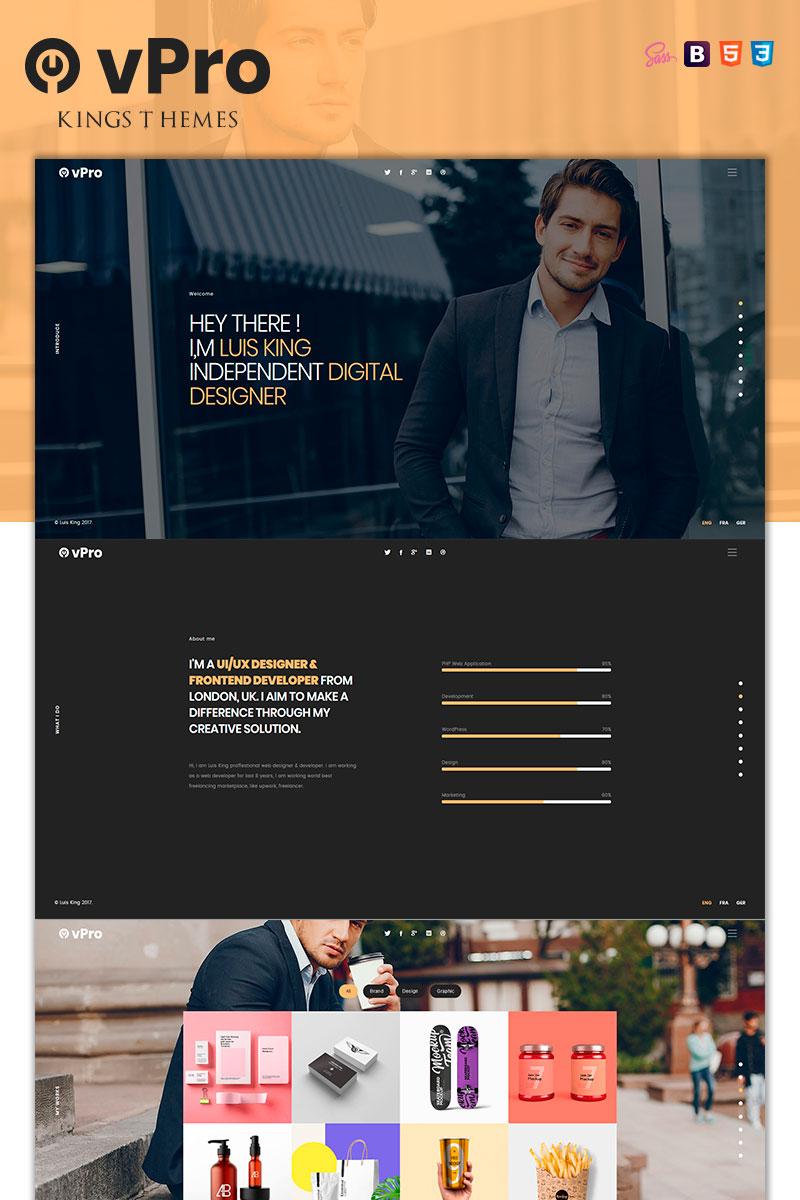vPro - vCard / CV / Resume / Portfolio Landing Page Template