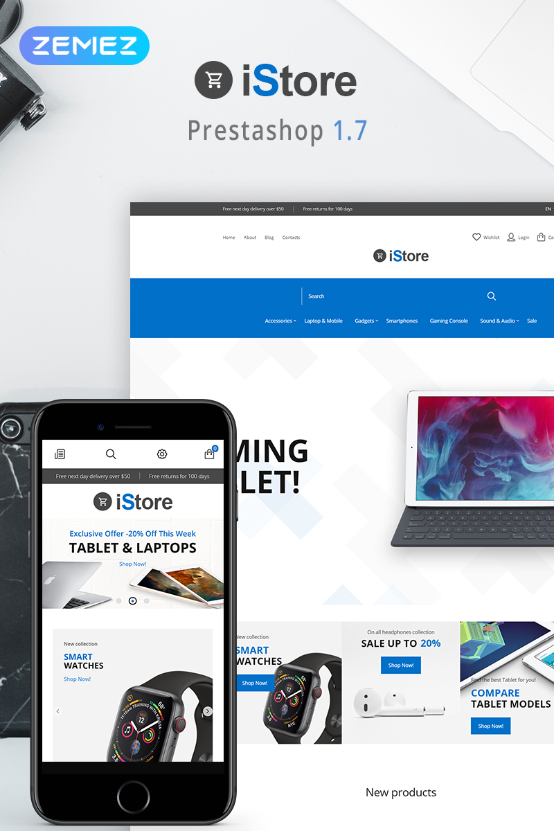 iStore - Electronics Shop Clean Bootstrap Ecommerce PrestaShop Theme