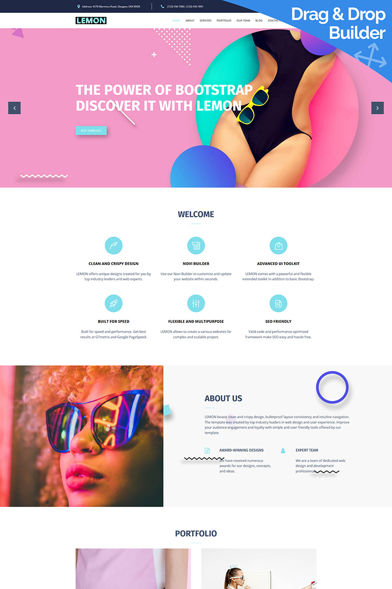 Lemon - Design Company Moto CMS 3 Template