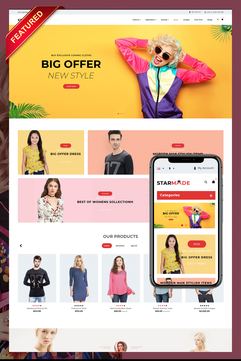 StarMode Fashion Store OpenCart Template