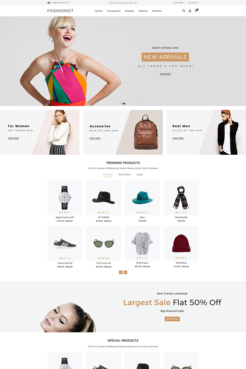 Fashionist Fashion Store OpenCart Template