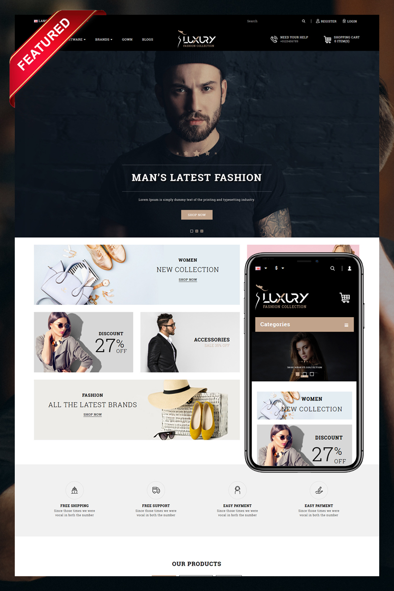 Luxury Minimal Fashion Store OpenCart Template