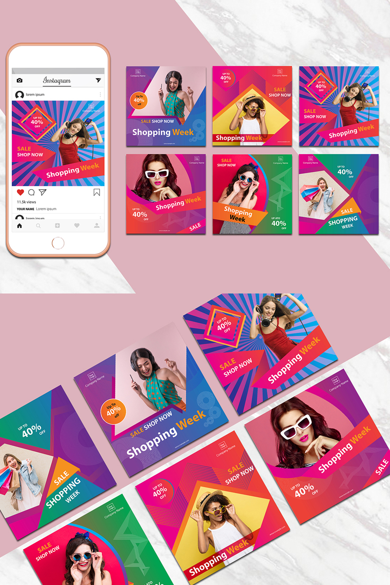 Creative and Colorful Instagram Template Design