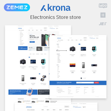 Template Electronice WooCommerce #80170