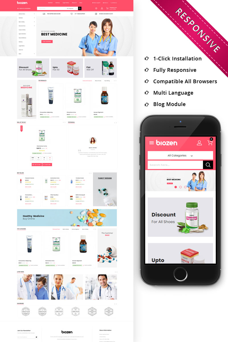 BioZen - The Medical Store Responsive PrestaShop Theme