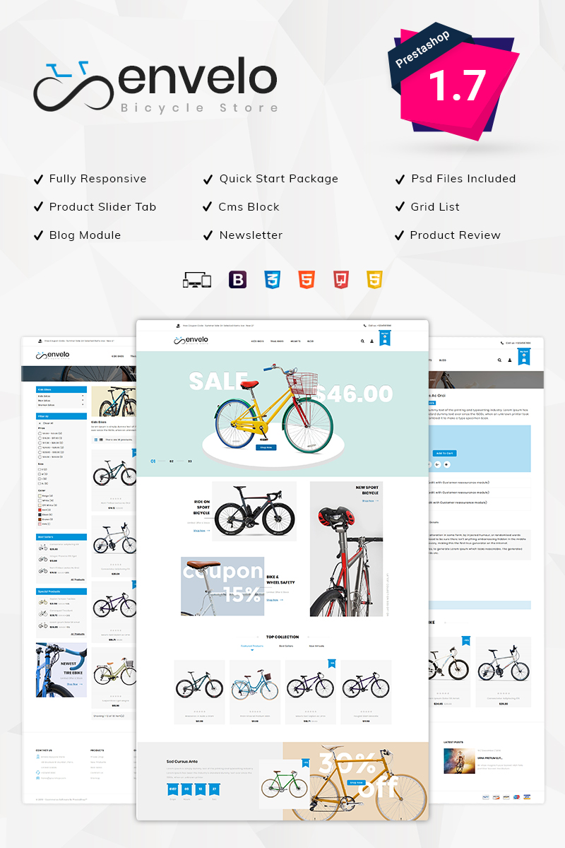 Envelo Bicycle Store PrestaShop Theme