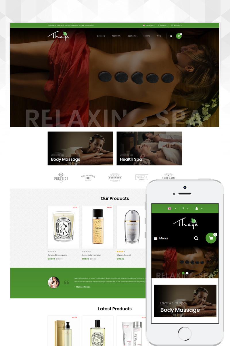 Thaye - Massage Parlour OpenCart Template
