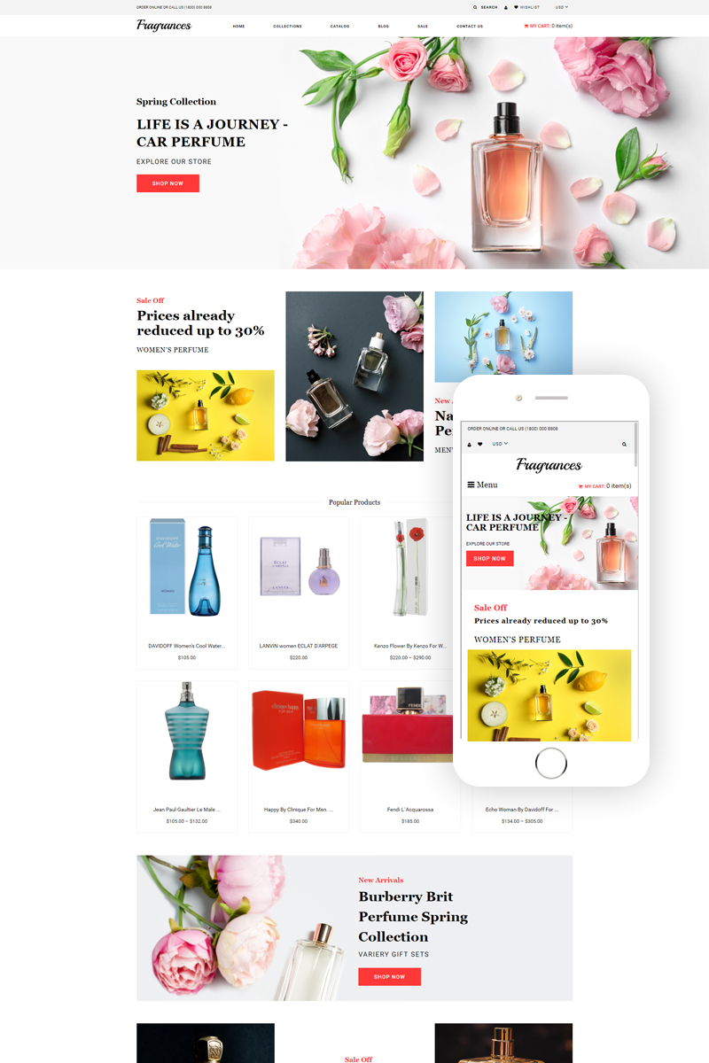 Fragrances - Cosmetics Store eCommerce Clean Shopify Theme