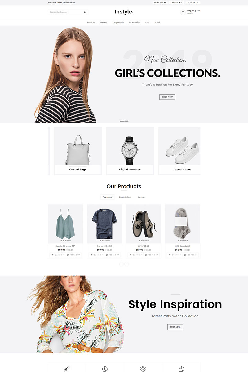Instyle Fashion Responsive OpenCart Template