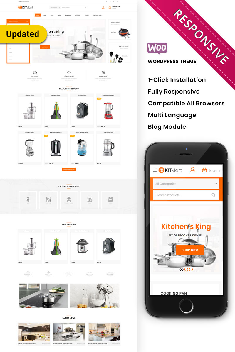Kitmart - The Kitchen Store Responsive WooCommerce Theme