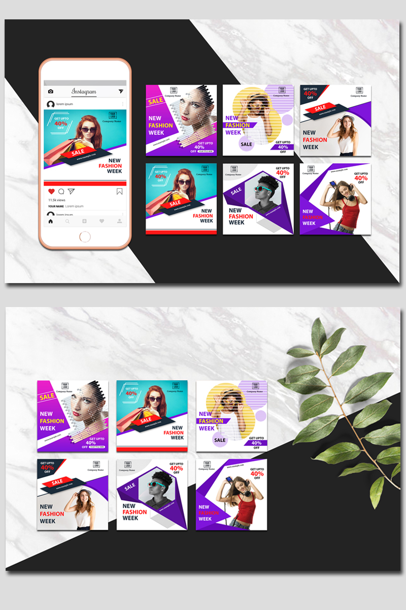 Colorful & Creative Instagram Social Media Template
