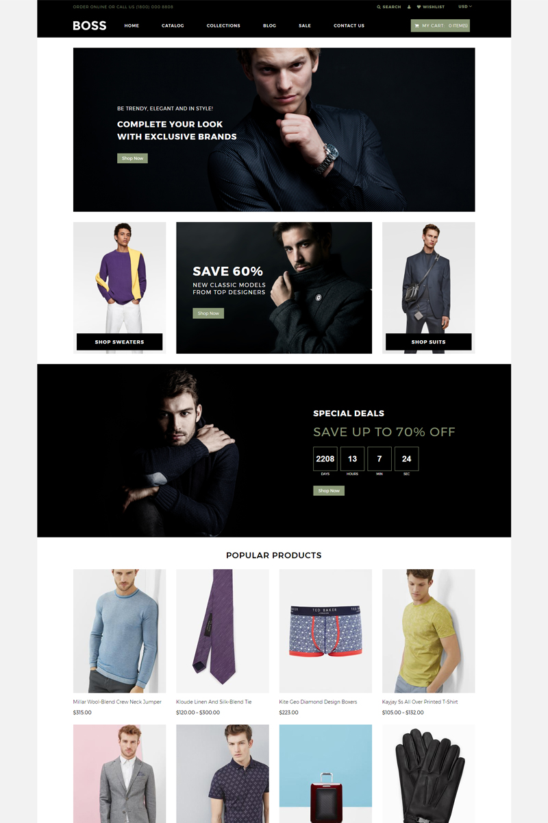 BOSS - Apparel eCommerce Modern Shopify Theme