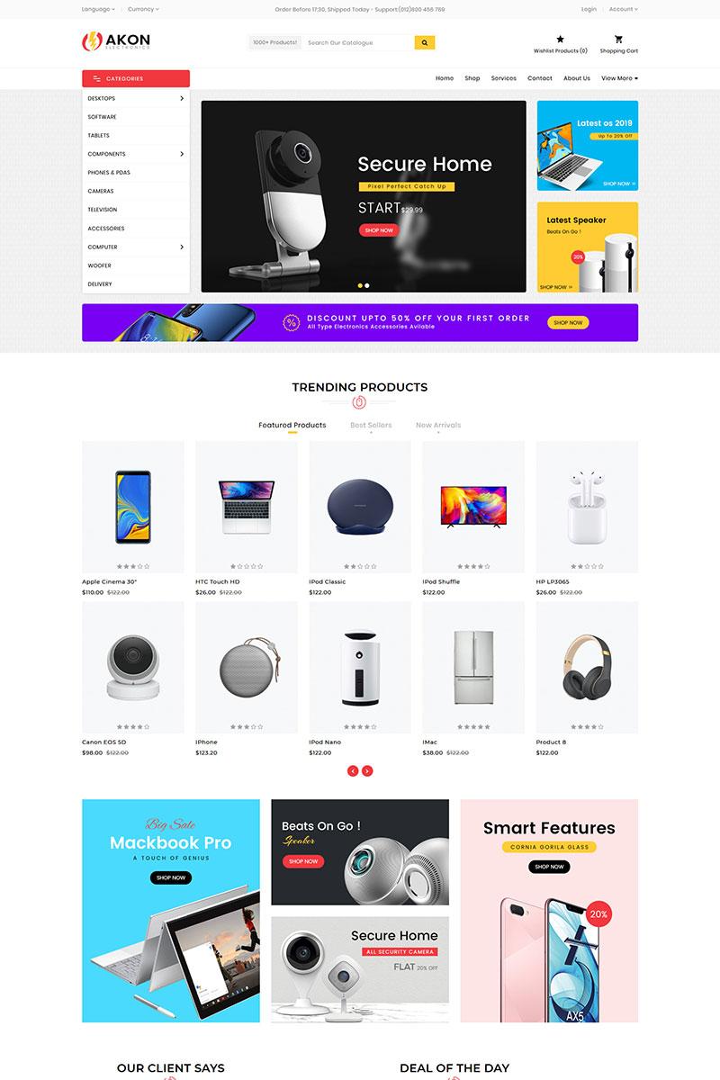 Akon Electronics Store OpenCart Template