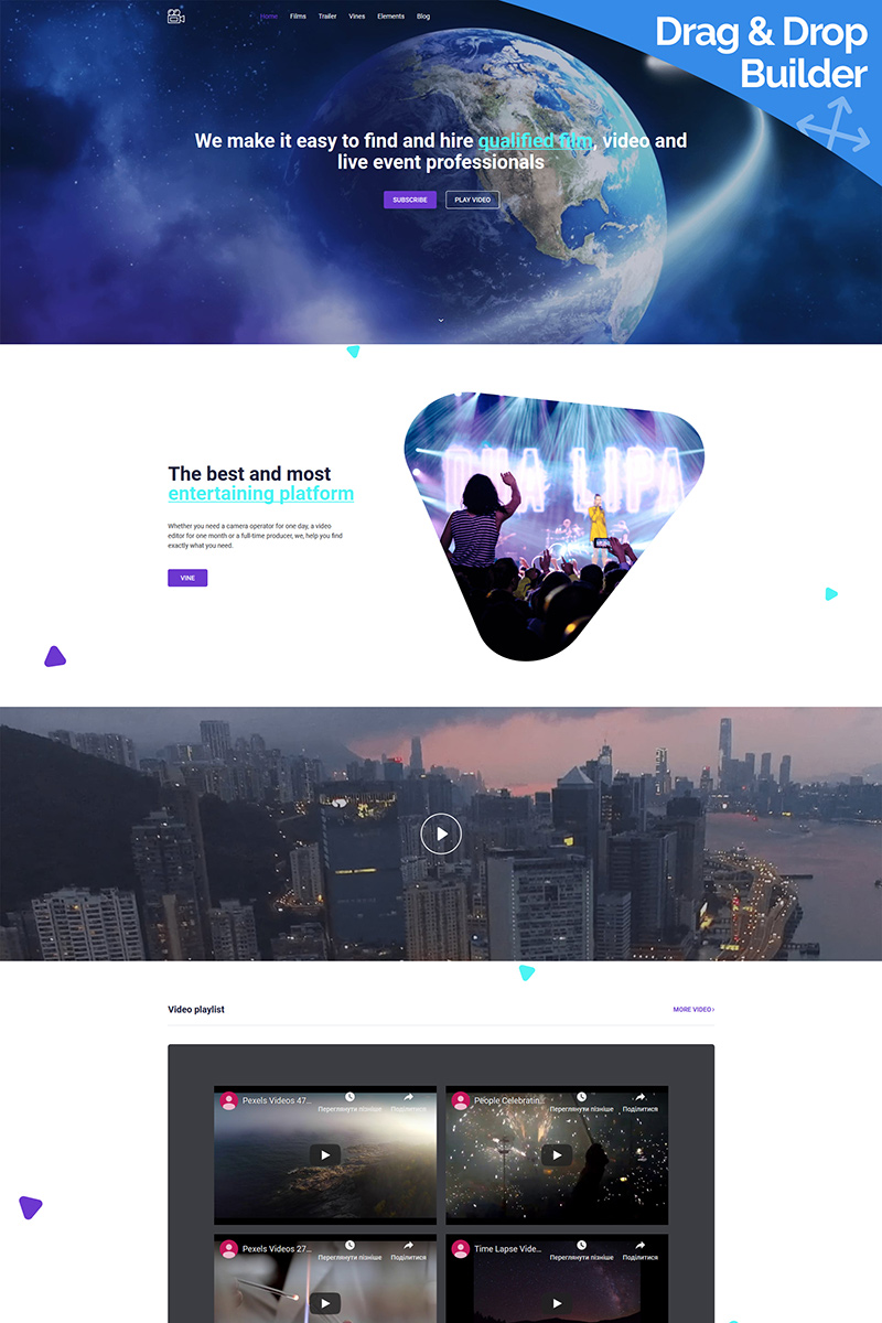 Motech - Video Agency Moto CMS 3 Template