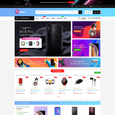 Template Electronice WooCommerce #81001