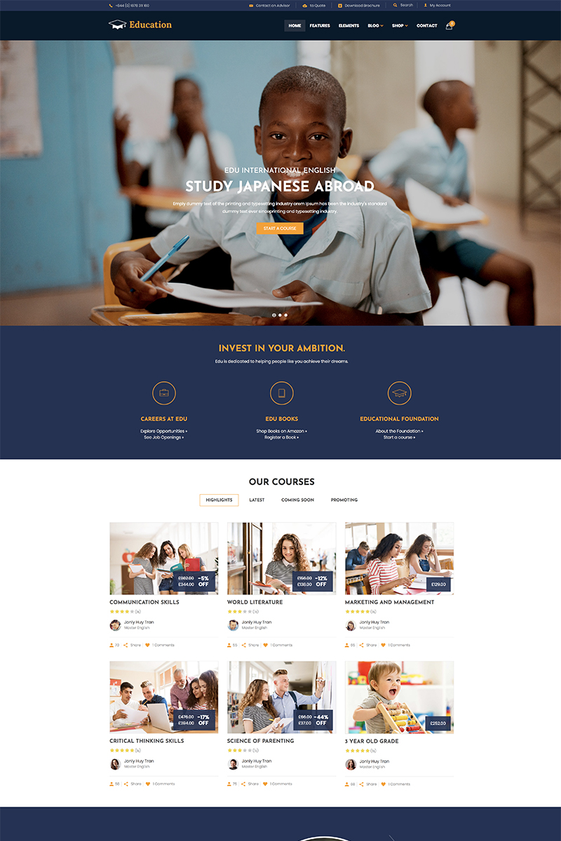 Education - WordPress Theme WordPress Theme